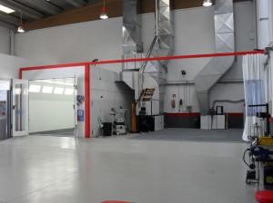 Vista interior del taller